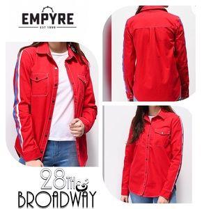 Empyre - Red Button Down Long Sleeve Shirt